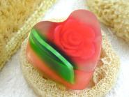 Seifenherz Rosenblüte