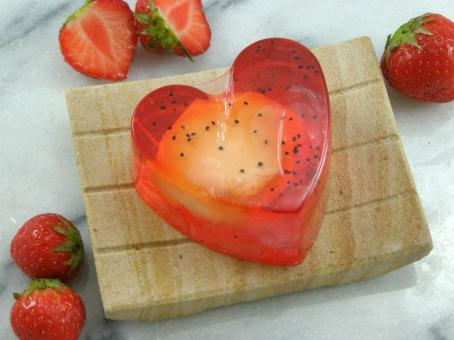 Seifenherz Erdbeer Duft