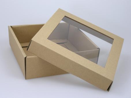 Geschenkverpackung mit Klarsichtfolie groß 10 er Pack