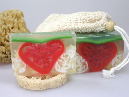 Seife Erdbeersahne Duft *Block*
